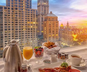 breakfast, food, and new york image