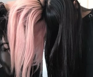 pink, black, and hair image