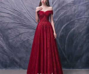 girl, lace, and prom dress image