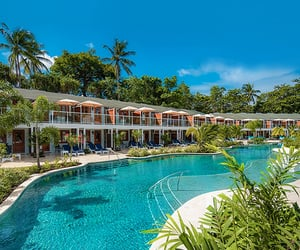 beachfront resort, beach vacation, and Caribbean image
