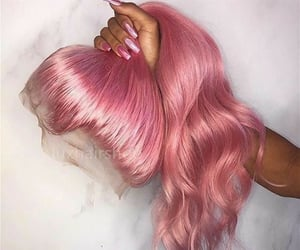 glam, unicorn hair, and pink hair image