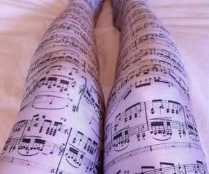 leggings, music, and pink image