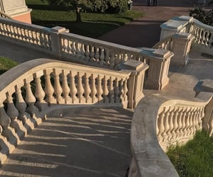 aesthetic, stairs, and sunset image