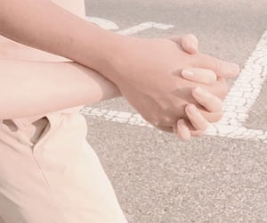aesthetic, holding hands, and couples image
