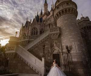 castle, fashion, and gown image