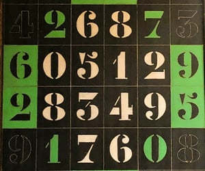 numbers, games, and typography image
