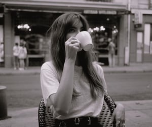 aesthetic, bw, and coffee image