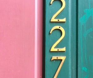 address, typography, and numbers image