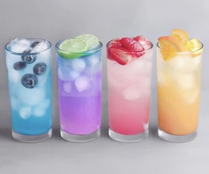 drink, aesthetic, and blue image