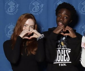 sadie sink, finn wolfhard rp, and caleb mclaughlin image