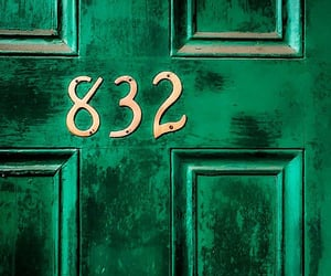 numbers, 832, and doors image