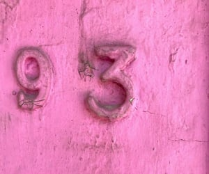numbers, pink, and pole image