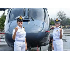 indian navy warships and women navy officer image