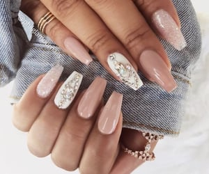 jacket, nails, and Nude image