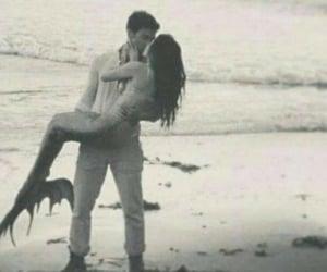 mermaid, love, and kiss image