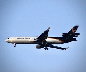 air plane, ups, and photography image
