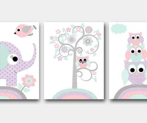 canvas print, elephant decor, and baby girl wall decor image