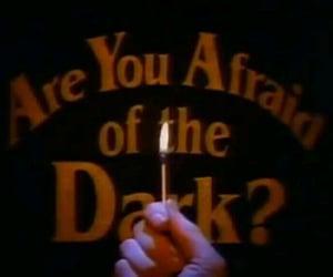 dark, afraid, and fire image