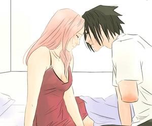 anime, couple, and konoha image