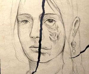 art, broken, and sketch image