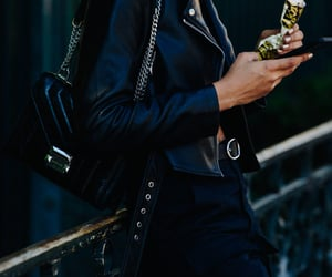 jacket, leather, and Michael Kors image