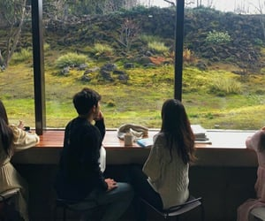 cafe, couple, and goals image