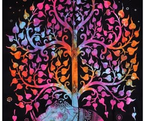 colorful, tree of life, and indian tapestry image