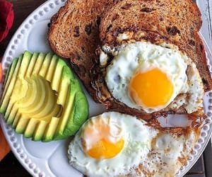 diet, toast, and avocado image