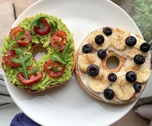 yummy, avocado, and bagel image
