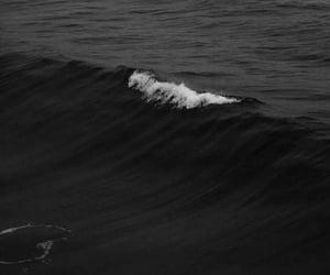 black, wallpaper, and ocean image