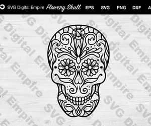 etsy, silhouette svg, and skull clipart image