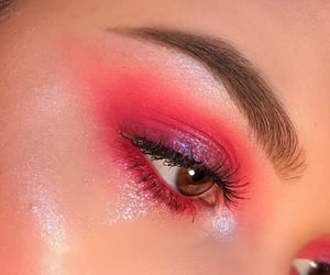 beautiful eyes, eye makeup, and eyelid image