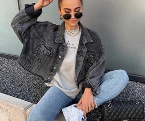 jeans and cropped jean jacket image