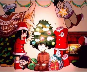 christmas, decoratng, and my hero acadamia image
