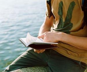 black, tshirt, and book image