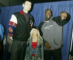christina aguilera, shaquille o'neal, and shaquille oneal image