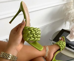 beautiful, girls, and green image