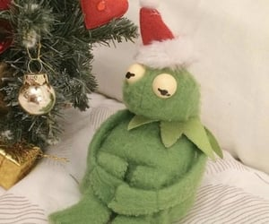 kermit, christmas, and aesthetic image