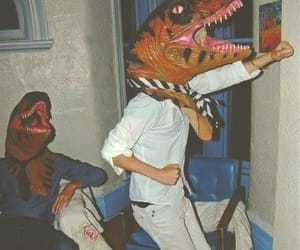 dinosaur, funny, and party image