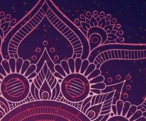 background, mandala, and purple image