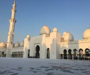 architecture, mosque, and Dubai image