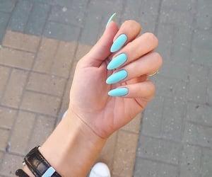 Bleu, blue, and nail polish image
