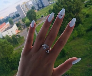 nails, white, and manicure image