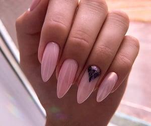 black, nails, and nail polish image