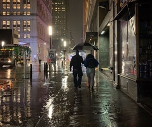 rain and new york image