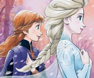 anna, drawing, and frozen image