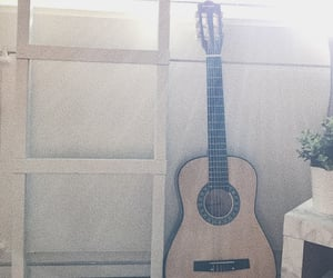 guitar, home, and music image