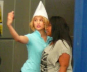 amber riley and dianna agron image