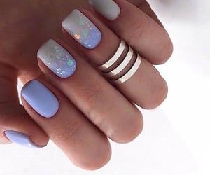 Blanc, nails, and Bleu image