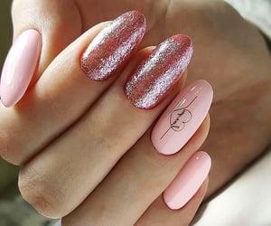 coeur, nail art, and nail polish image